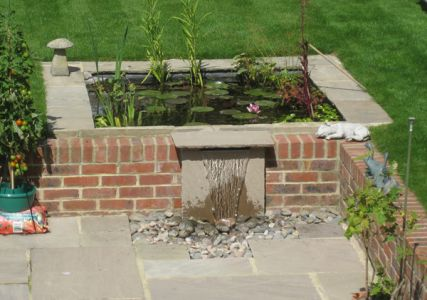 Thanks to Mr J for these photos of the 30cm Rear Supply Blade Cascade in his garden